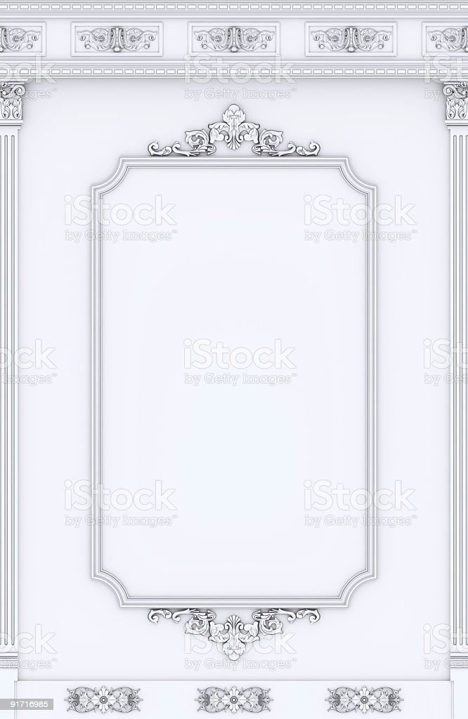 Architectural decoration white royalty-free stock photo