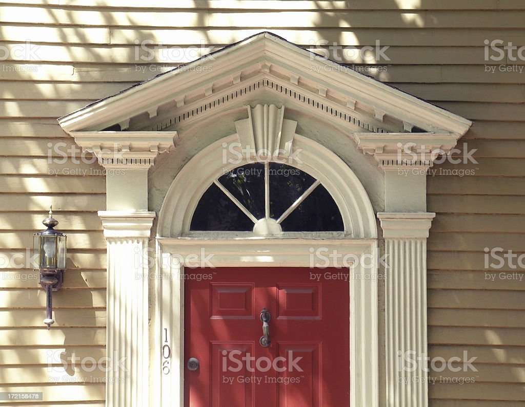 Architectural detail - fanlight stock photo