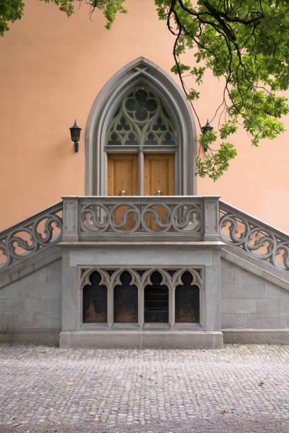 architectural detail in lindenhof - zurigo foto e immagini stock