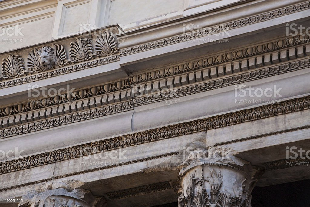 Architectural detail in Rome royalty-free stock photo