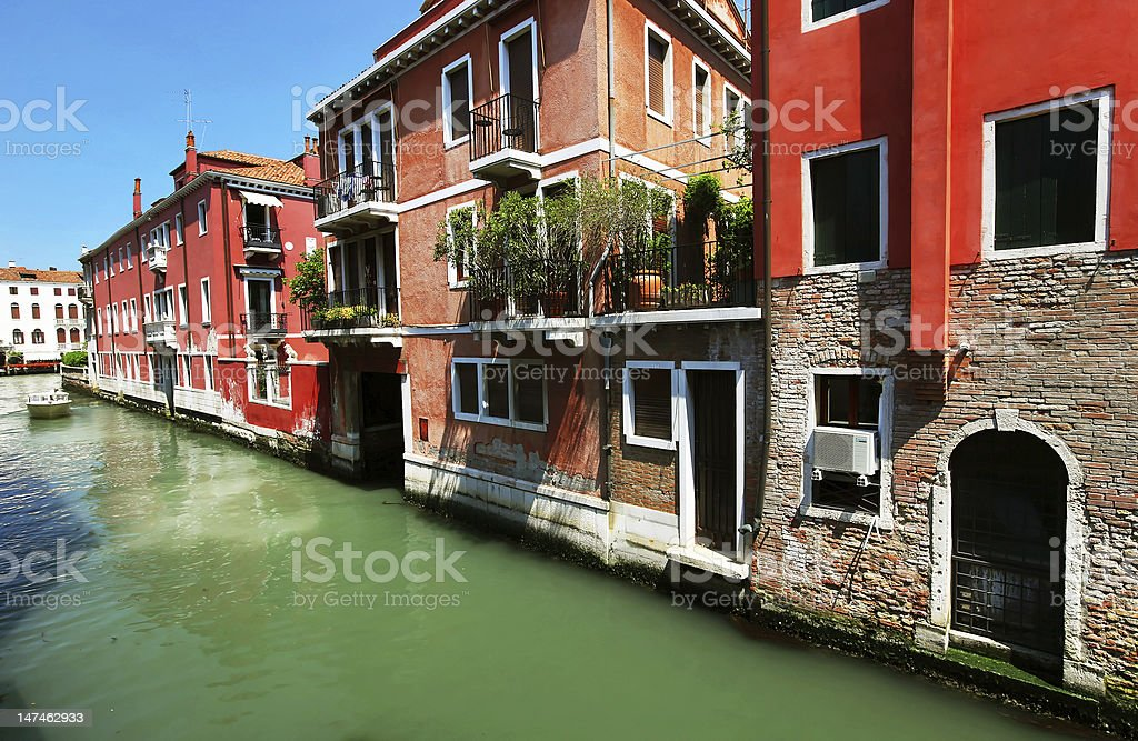 Architectural detail in Venice stock photo
