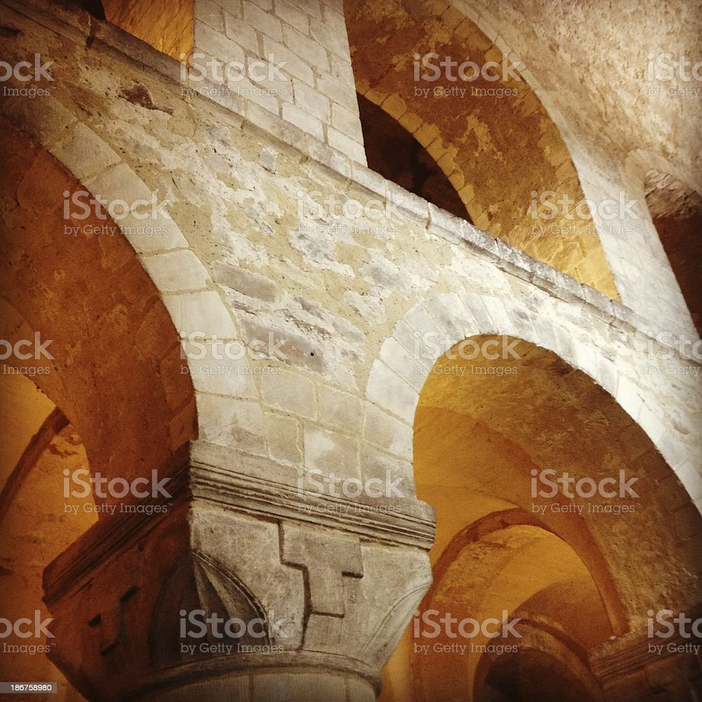 Architectural Detail of a Chapel royalty-free stock photo