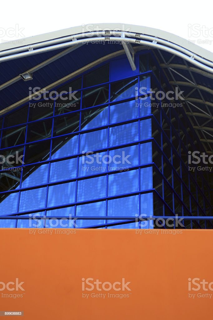 Architectural detail of a modern construction royalty-free stock photo