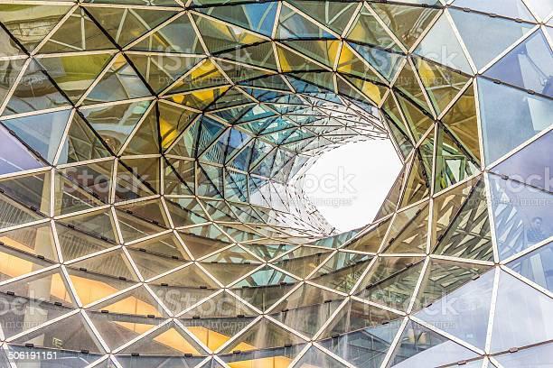 Architektonische Details Des Einkaufszentrums In Frankfurt Stockfoto und mehr Bilder von Architektur