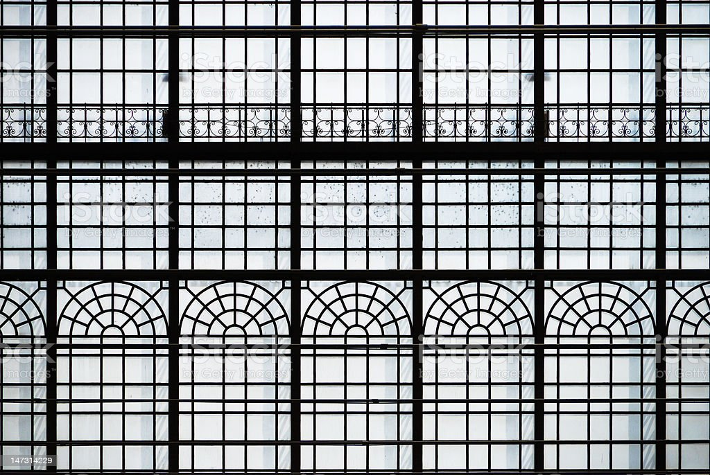 Architectural detail of art nouveau train station. royalty-free stock photo