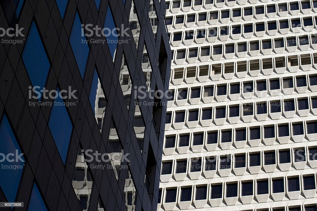 Architectural detail of buildings in downtown San Francisco royalty-free stock photo
