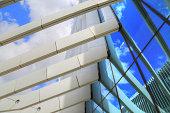 Architectural detail of EDP Building, Lisbon