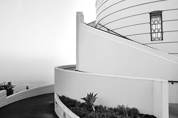 Architectural Detail of Griffith Observatory, Los Angeles, Calif stock photo