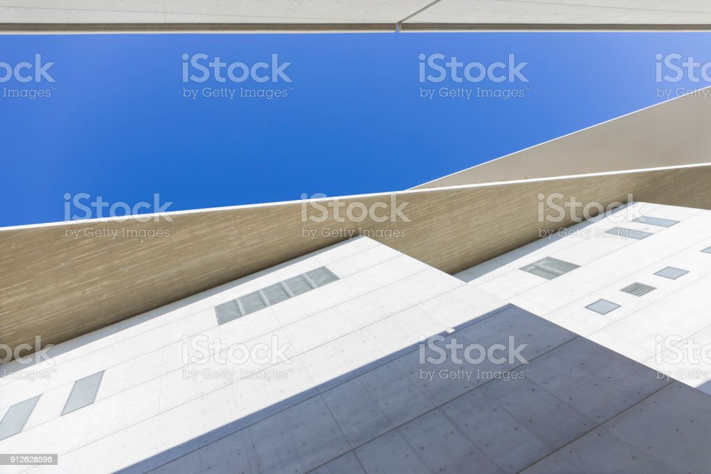 architectural detail of modern building stock photo