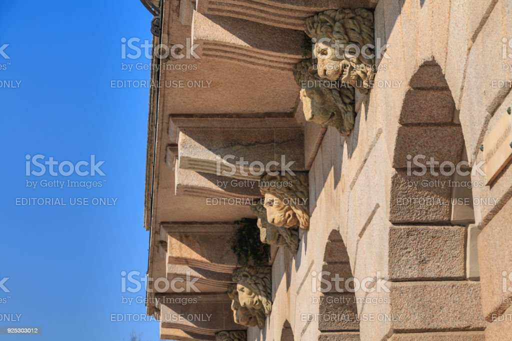 Architectural detail of one of the entrances to the Arena Civica stadium - foto stock