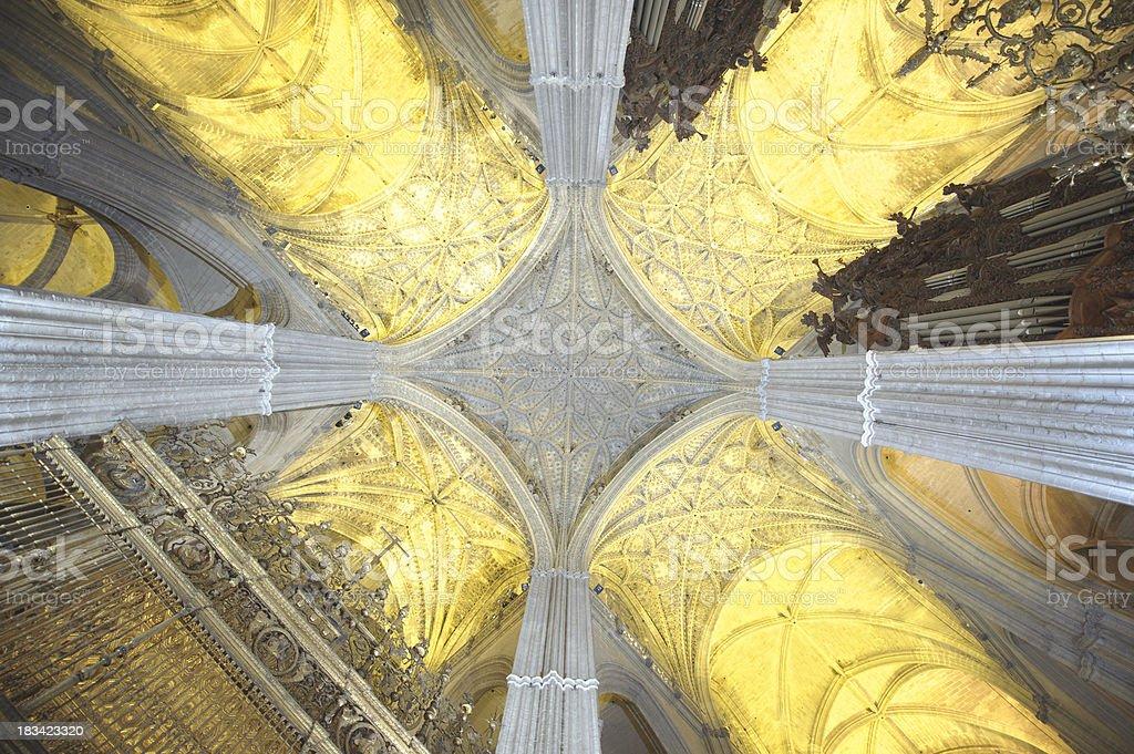 Architectural Detail of Santa Maria de la Sede stock photo