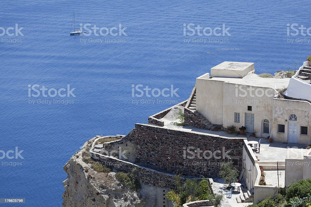 Architectural detail of Santorini royalty-free stock photo