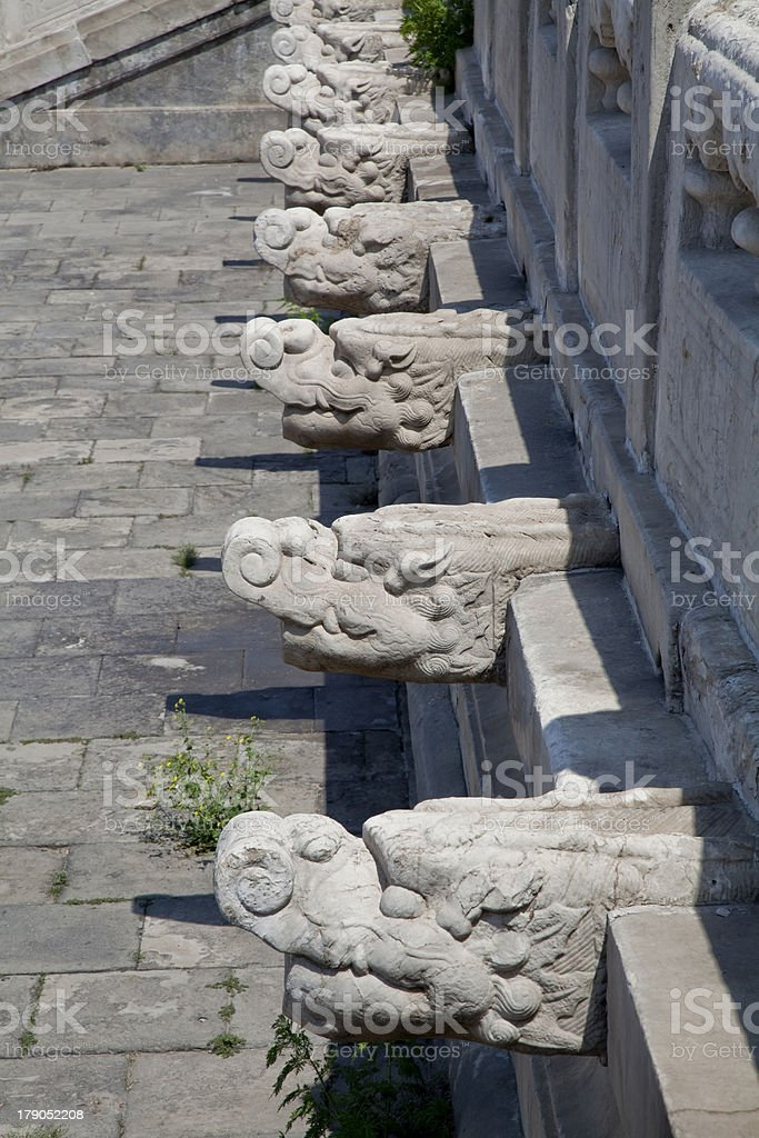 architectural detail of the Chinese pagoda royalty-free stock photo