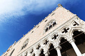 Architectural detail of the Doge's Palace (Palazzo Ducale) in Venice, Italy