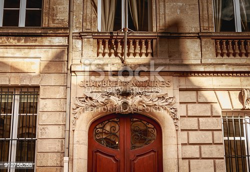 845085240istockphoto architectural detail of the facade of the notaries chamber 912758288