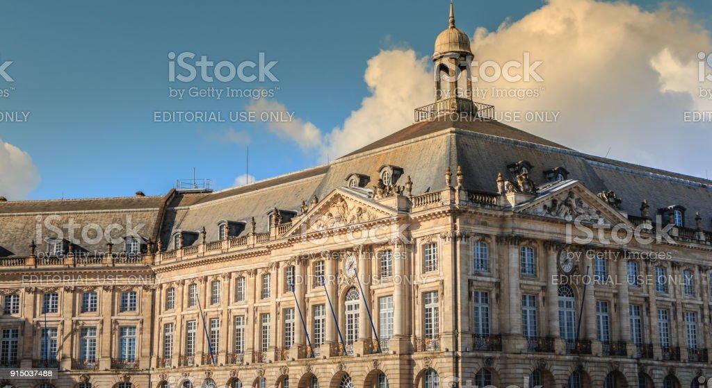 détails architecturaux de la célèbre Place de la Bourse - Photo