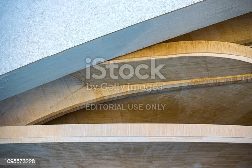 istock Architectural detail of the opera house in Valencia, Spain 1095573228