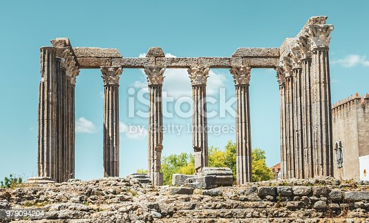 istock architectural detail of the Roman Temple of Evora or Temple of Diana in Portugal 979094204
