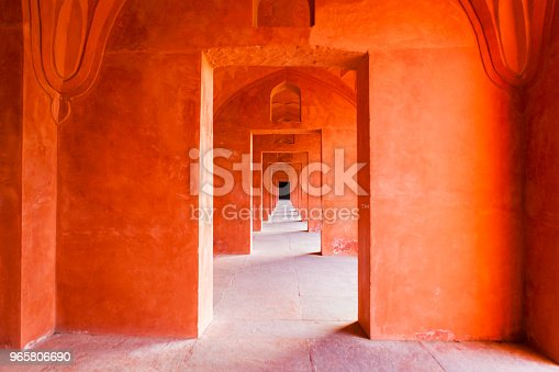 istock Architectural Detail of the Taj Mahal in Agra, India 965806690