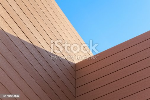 Abstraction of a wooden construction detail