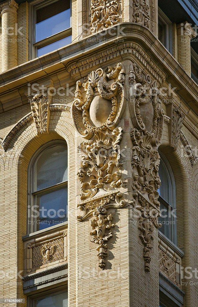 Architectural detail, Soho building facade, New York City royalty-free stock photo