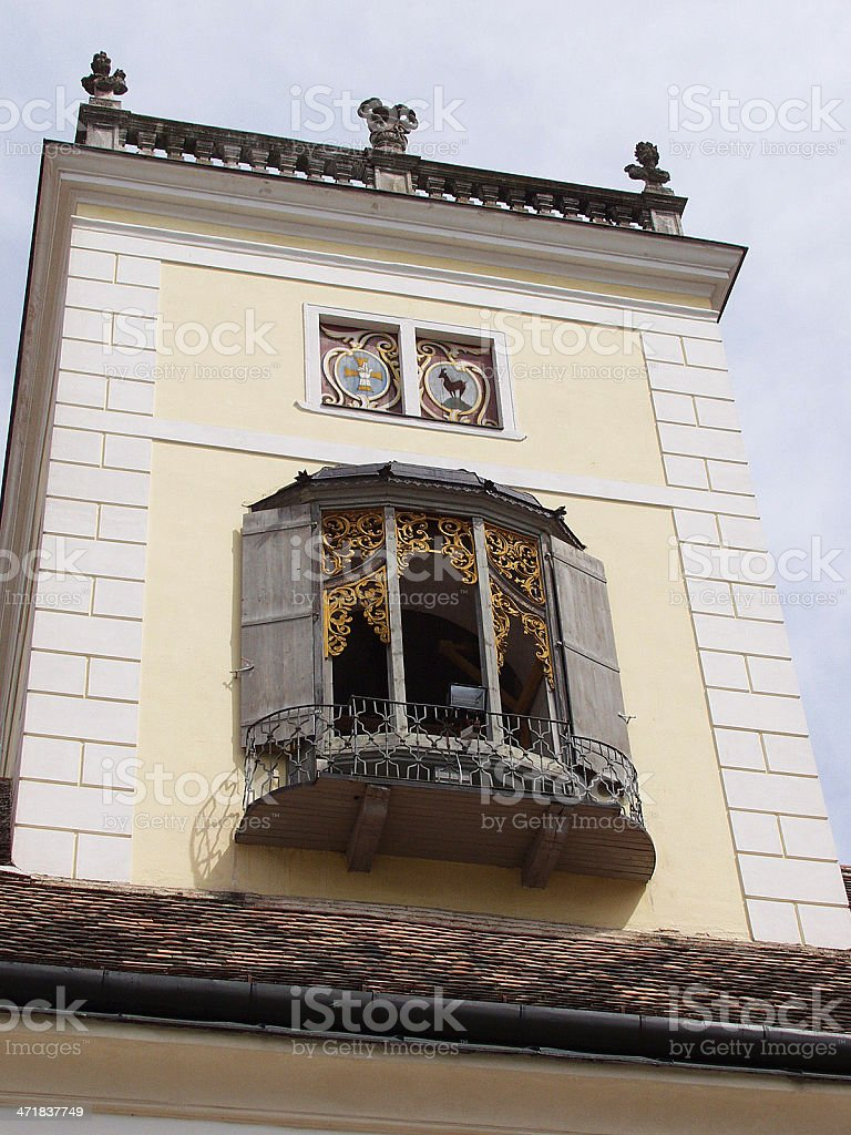 Architectural detail, the window of  monastery royalty-free stock photo