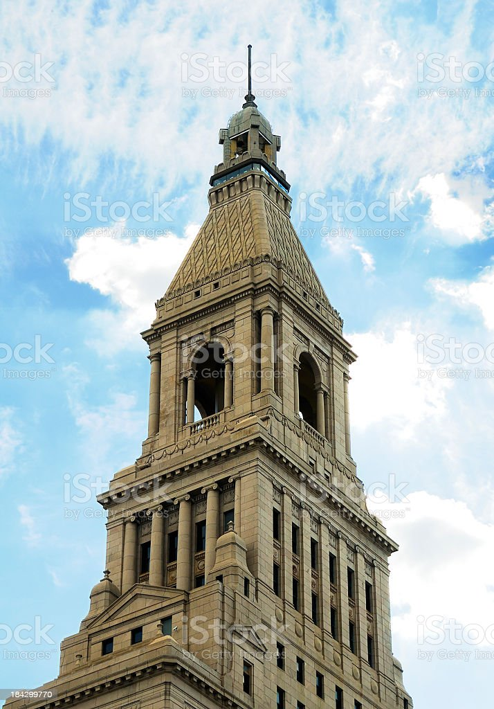 Architectural Detail Travelers Tower Hartford Connecticut stock photo