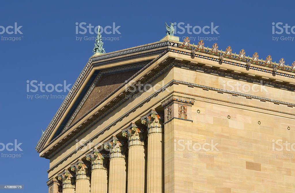 Architectural Detail:Philadelphia Museum of Art stock photo