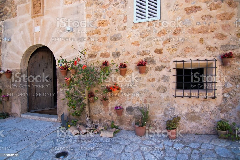 Architectural details in Valldemossa stock photo