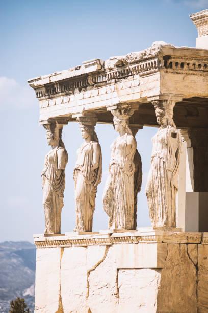 Architectural details of Acropolis stock photo