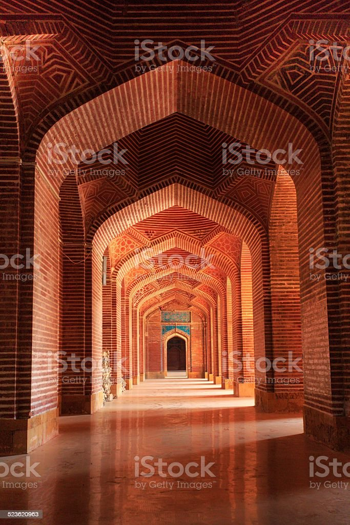 Architectural Details of ShahJahan Masjid stock photo