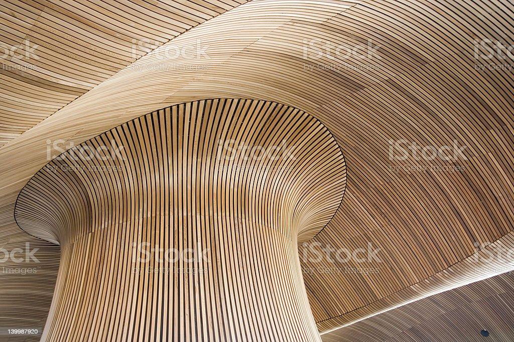 Dettagli architettonici dell'Assemblea gallese edificio, la baia di Cardiff, Regno Unito. - foto stock