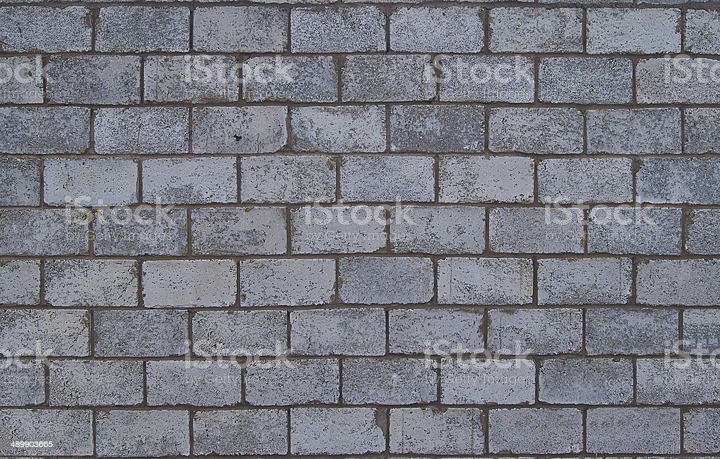 Architectural details. Wall of  cinder blocks. royalty-free stock photo