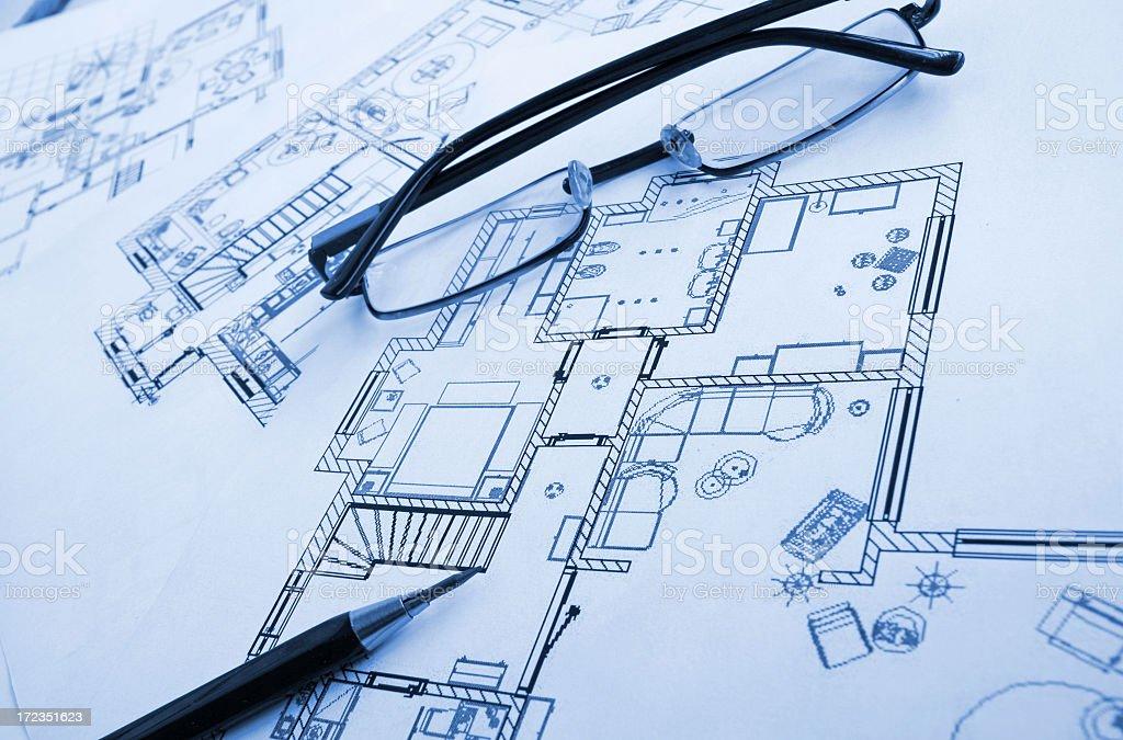 De dibujo arquitectónico foto de stock libre de derechos