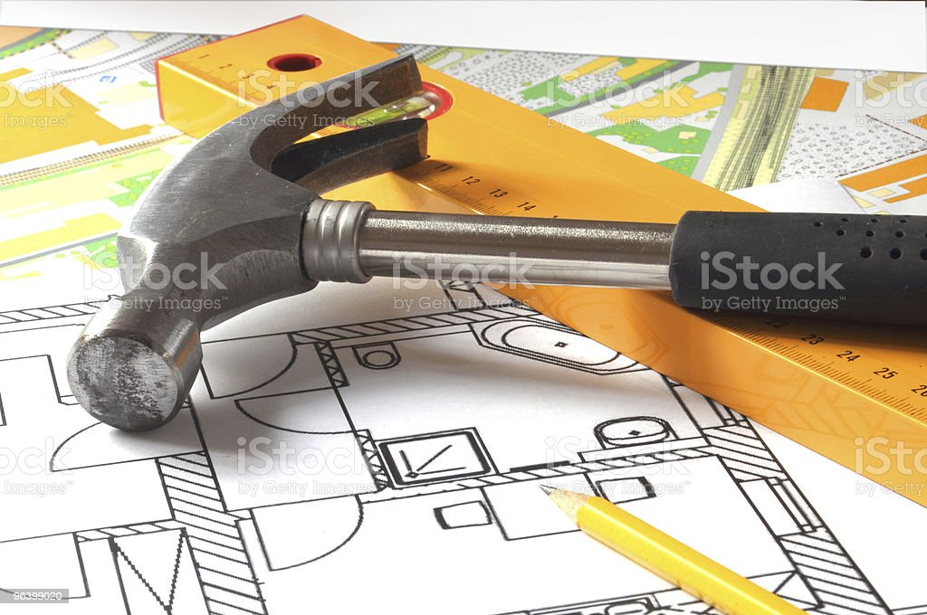 architectural drawing - Royalty-free Architect Stock Photo
