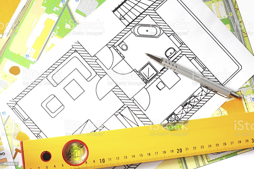 architectural drawing - Royalty-free Architecture Stock Photo
