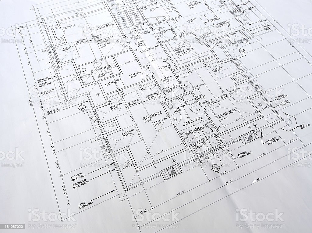 architectural drawings 28 stock photo