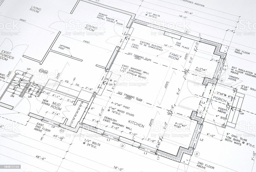architectural drawings  53 stock photo