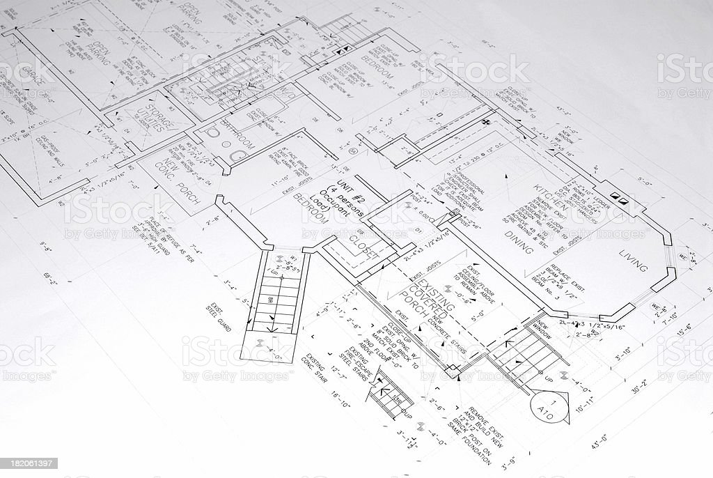 architectural drawings  73 royalty-free stock photo