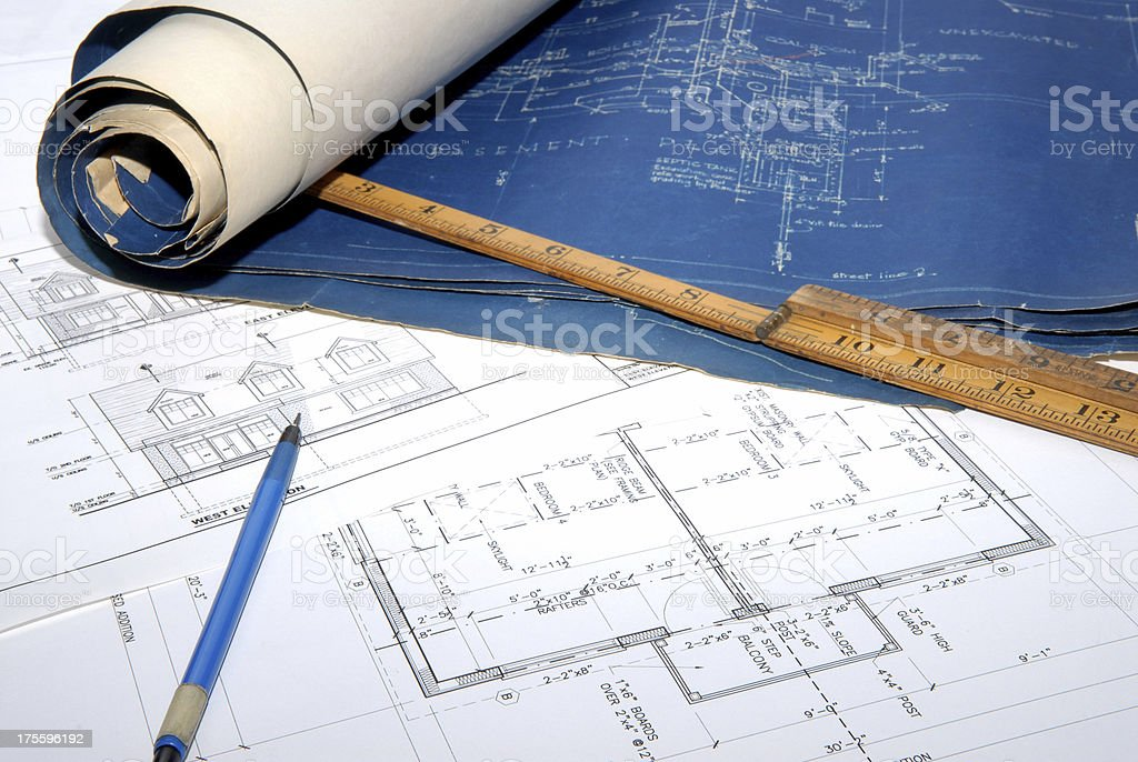 architectural drawings  77 royalty-free stock photo