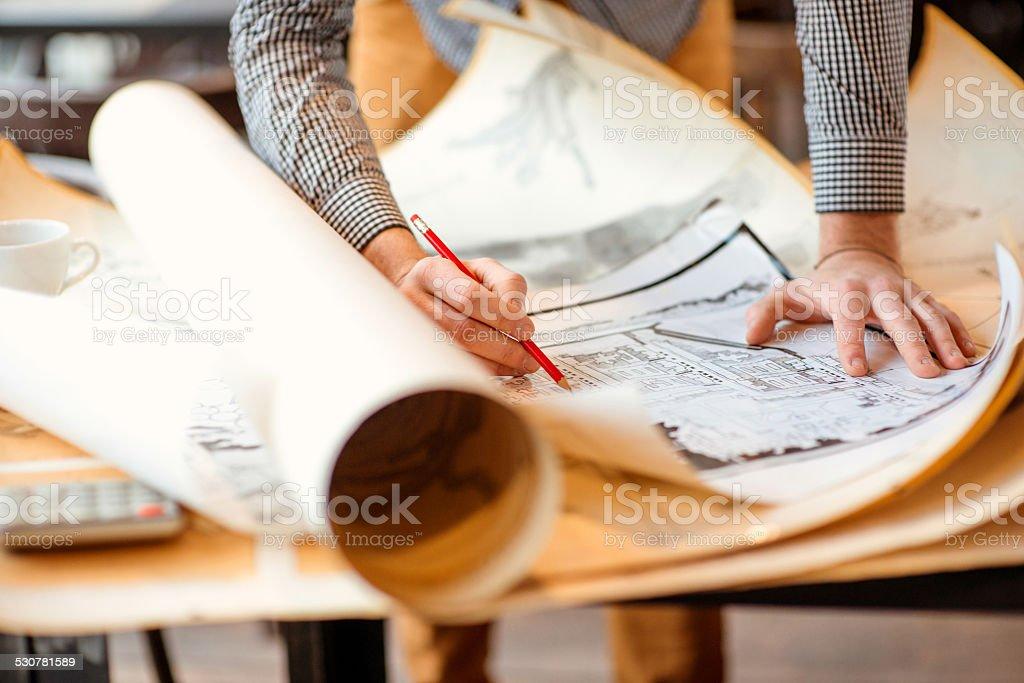 Architektonischen Zeichnungen – Foto