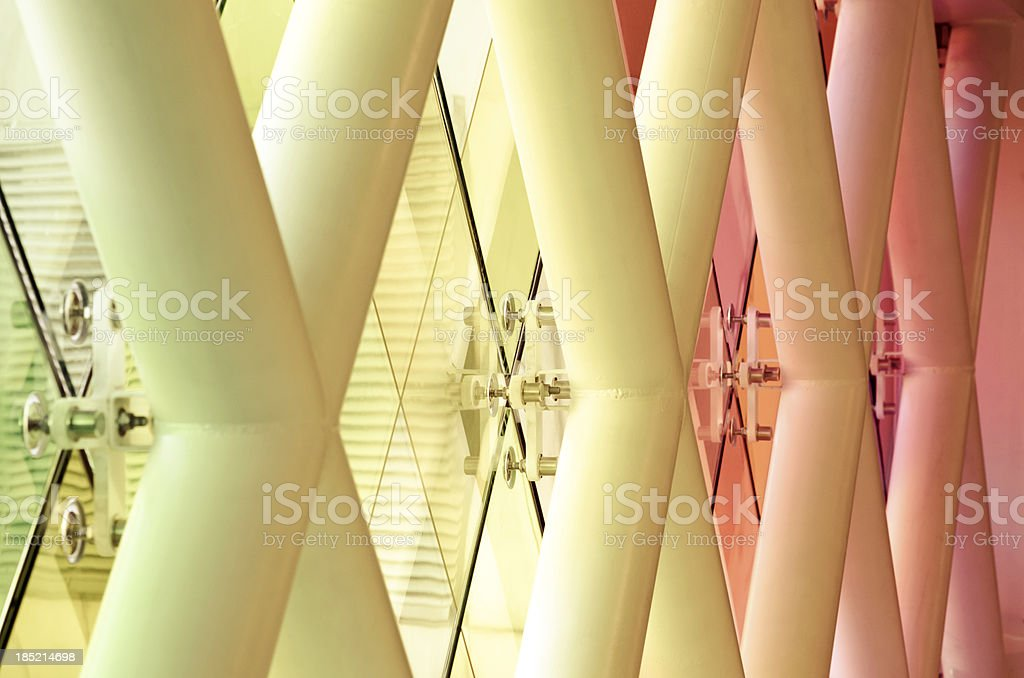 Architectural feature at Miami International Airport stock photo