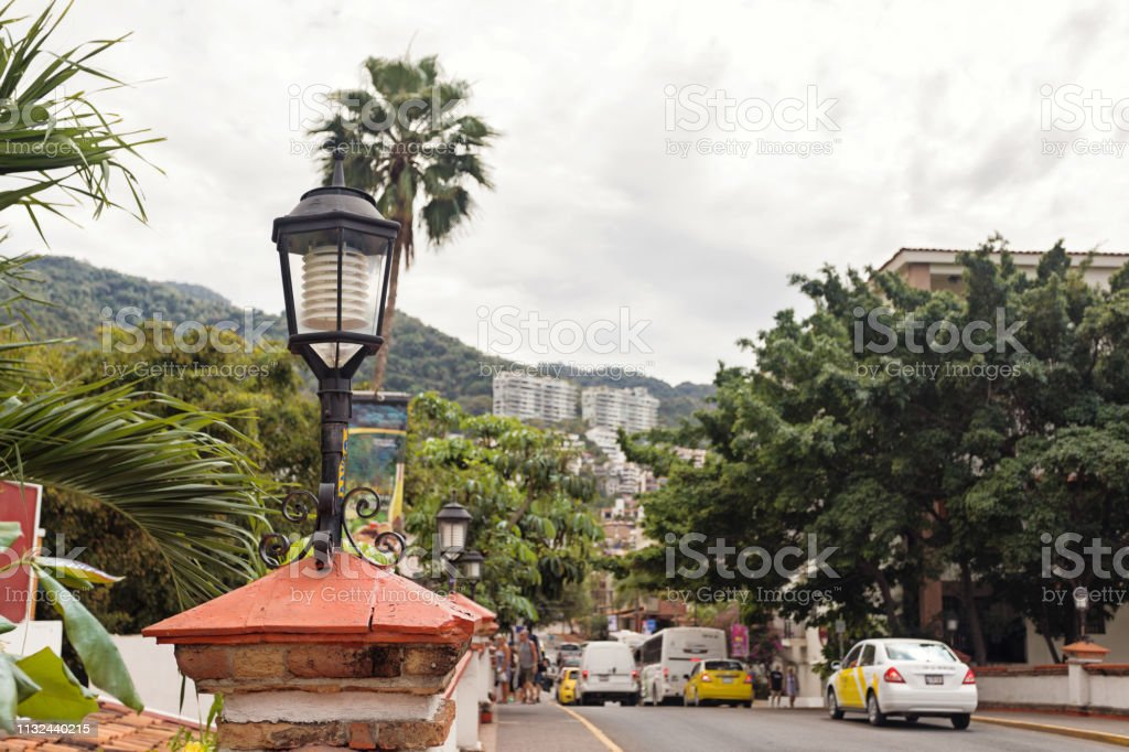 architectural features in downtown Puerto Vallarta stock photo