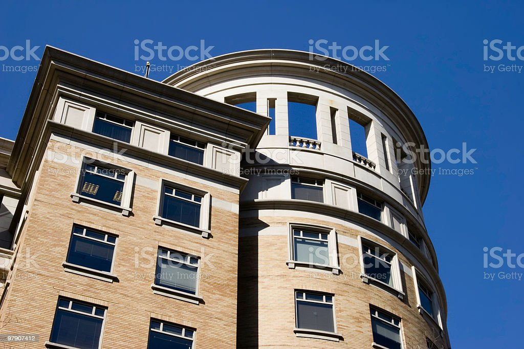 Architectural Features on Office Building royalty-free stock photo