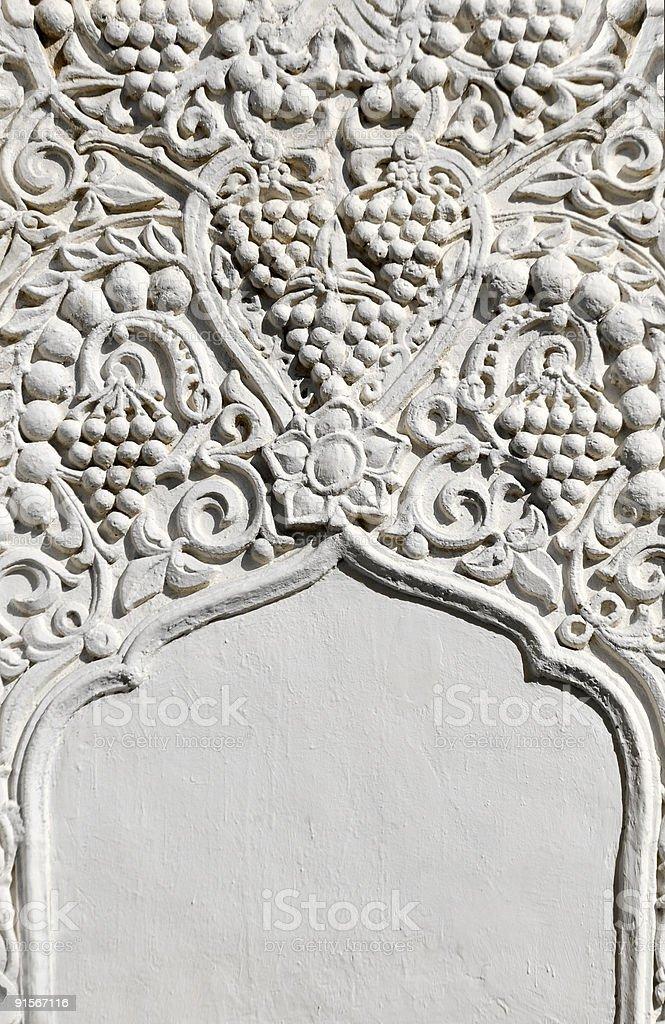 Architectural fragment in east style stock photo