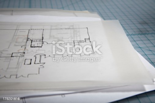 istock Architectural Home Blueprint Plans 175201816