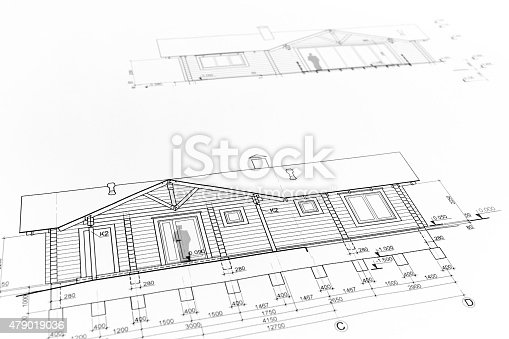 istock architectural home drawing 479019036