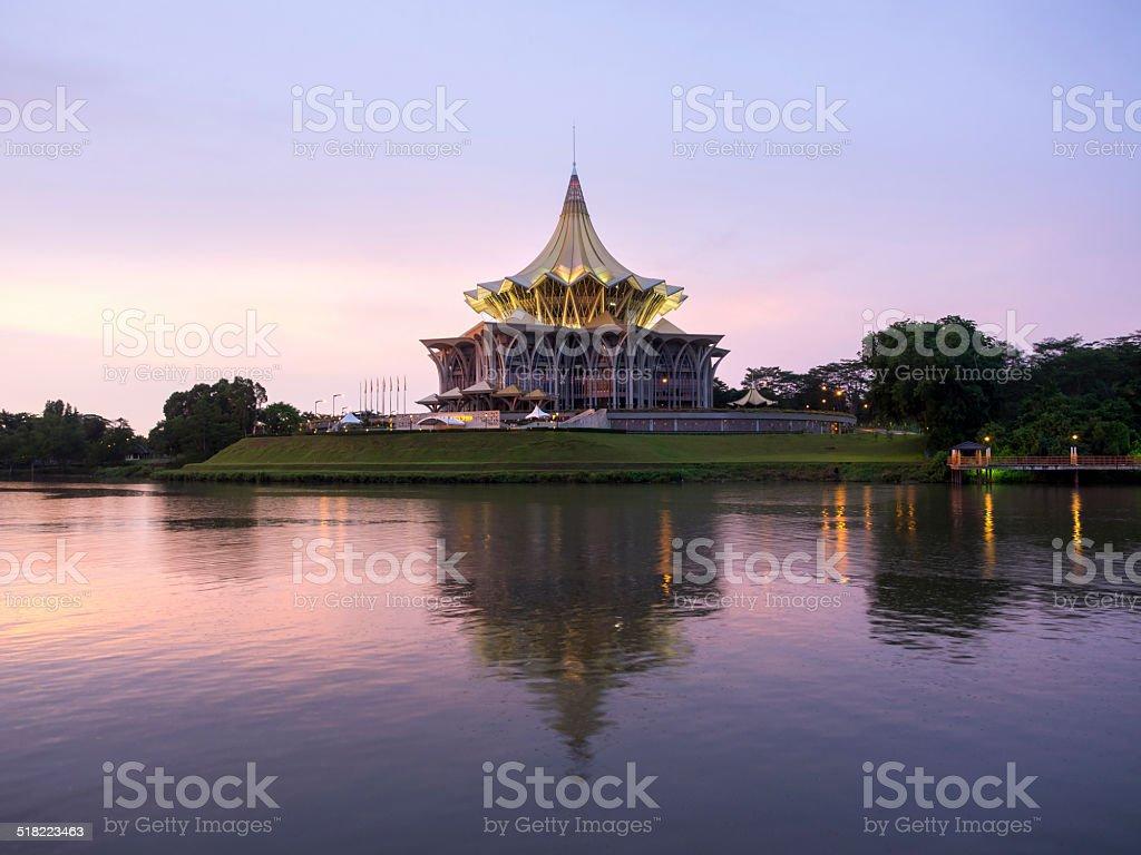 Architectural Landmark in Kuching, Sarawak, Malaysia stock photo
