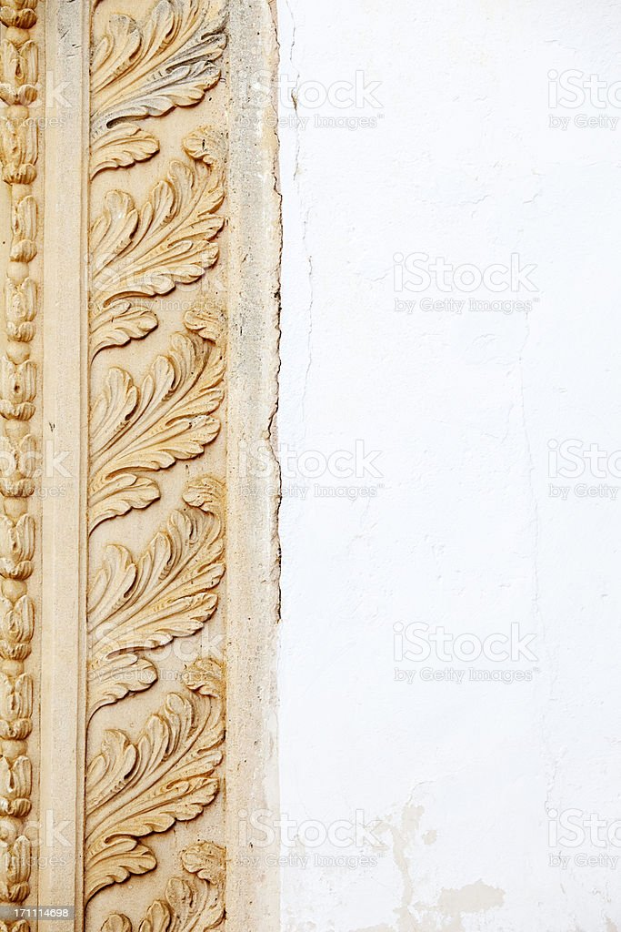 Architectural Leaf Moulding stock photo