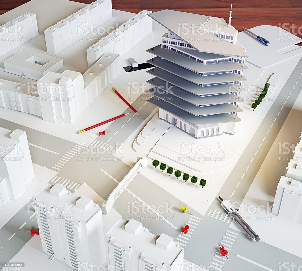 architectural model stock photo